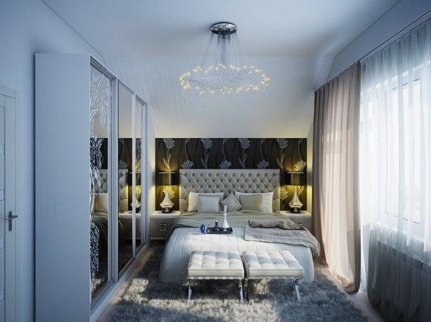 Фотография: Спальня в стиле Классический, Малогабаритная квартира, Интерьер комнат, Советы, Зеркала – фото на INMYROOM