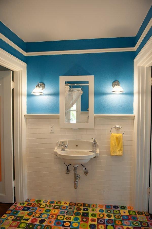 Фотография: Ванная в стиле Прованс и Кантри, Декор интерьера, Дизайн интерьера, Цвет в интерьере, Желтый – фото на INMYROOM