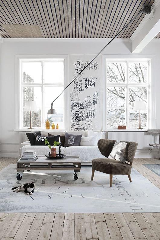 Фотография: Гостиная в стиле Лофт, Советы, Ремонт, Потолок, Ремонт на практике – фото на INMYROOM