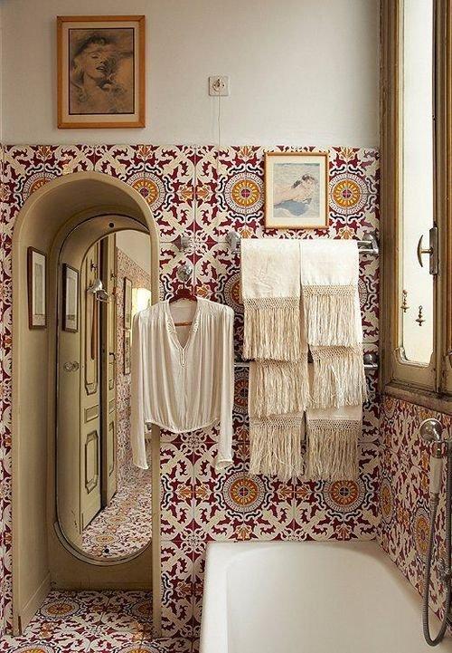 Фотография: Ванная в стиле Прованс и Кантри, Восточный, Декор интерьера, Декор дома, Плитка, Ремонт на практике – фото на INMYROOM