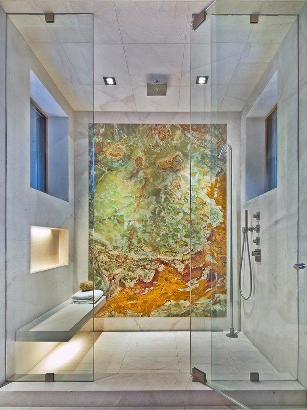 Фотография: Ванная в стиле Лофт, Минимализм, Современный, Декор интерьера, Дизайн интерьера, Декор, Зеленый, Ванна, Эко – фото на INMYROOM