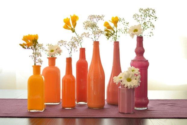 Фотография: Декор в стиле Современный, Декор интерьера, DIY, Цвет в интерьере, Оранжевый, Вазы – фото на INMYROOM