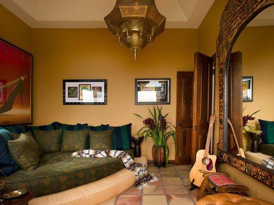 Фотография: Гостиная в стиле Современный, Восточный, Декор интерьера, Дом, Декор дома, Цвет в интерьере – фото на INMYROOM
