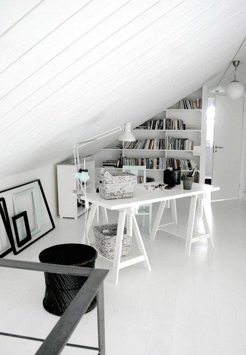 Фотография: Офис в стиле Скандинавский, Современный, Чердак, Мансарда – фото на INMYROOM