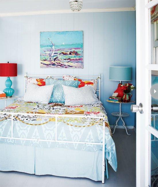 Фотография: Спальня в стиле Прованс и Кантри, Современный, Декор интерьера, Интерьер комнат, Цвет в интерьере – фото на INMYROOM