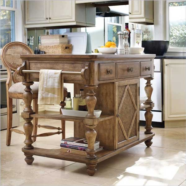 Фотография: Кухня и столовая в стиле Прованс и Кантри, Современный, Интерьер комнат, Кухонный остров – фото на INMYROOM