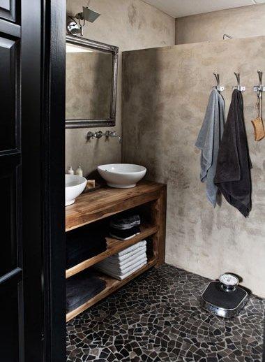 Фотография: Ванная в стиле Лофт, Дом, Цвет в интерьере, Дома и квартиры, Серый – фото на INMYROOM