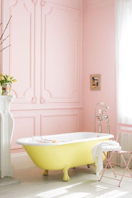Фотография: Ванная в стиле , Декор интерьера, Дизайн интерьера, Цвет в интерьере, Краска – фото на INMYROOM