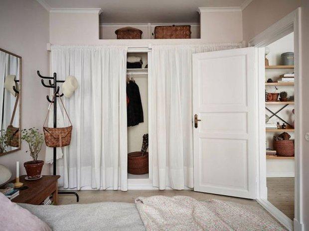 за и против штора вместо двери для гардеробной Inmyroom
