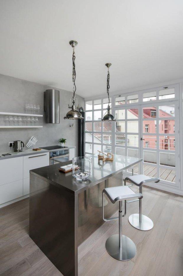 Фотография: Кухня и столовая в стиле Скандинавский, Квартира, Дома и квартиры, Минимализм – фото на INMYROOM