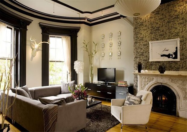 Фотография: Гостиная в стиле Скандинавский, Декор интерьера, Дом, Мебель и свет – фото на INMYROOM