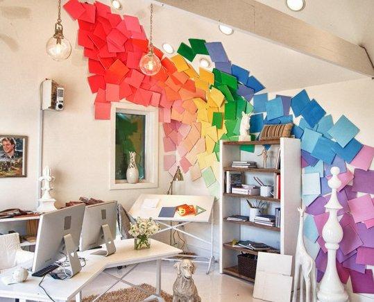 Фотография: Кабинет в стиле Современный, Декор интерьера, Декор дома, Цвет в интерьере, Обои – фото на INMYROOM