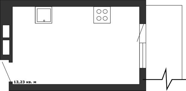 Фотография: Планировки в стиле , Кухня и столовая, Перепланировка, Анастасия Киселева, Максим Джураев, С-220 – фото на INMYROOM