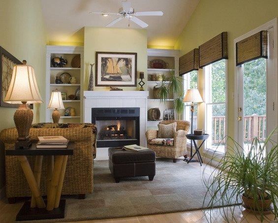 Фотография: Гостиная в стиле Эко, Декор интерьера, Малогабаритная квартира, Квартира, Дома и квартиры – фото на INMYROOM