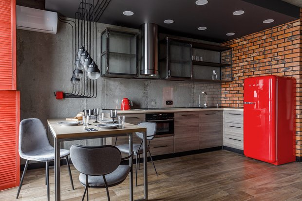 Фотография: Кухня и столовая в стиле Лофт, Советы, Стены, Декоративная штукатурка, Dali decor, Dali-Decor – фото на INMYROOM