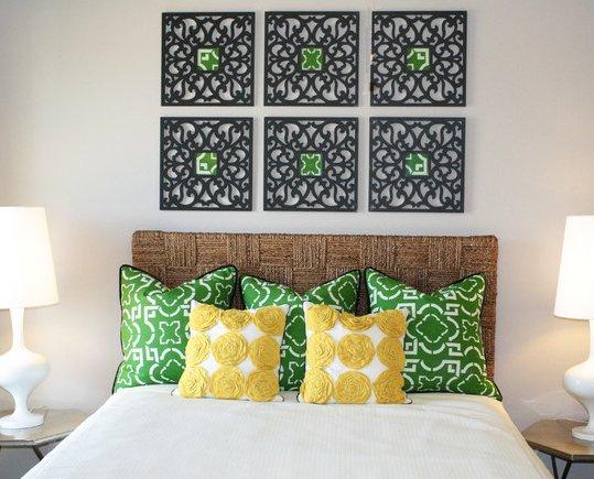 Фотография: Спальня в стиле Современный, Восточный, Декор интерьера, Декор дома, Цвет в интерьере, Обои – фото на INMYROOM