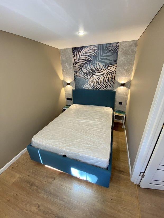 Кровать с подъемным механизмом купили в Hoff за 18 тысяч рублей.