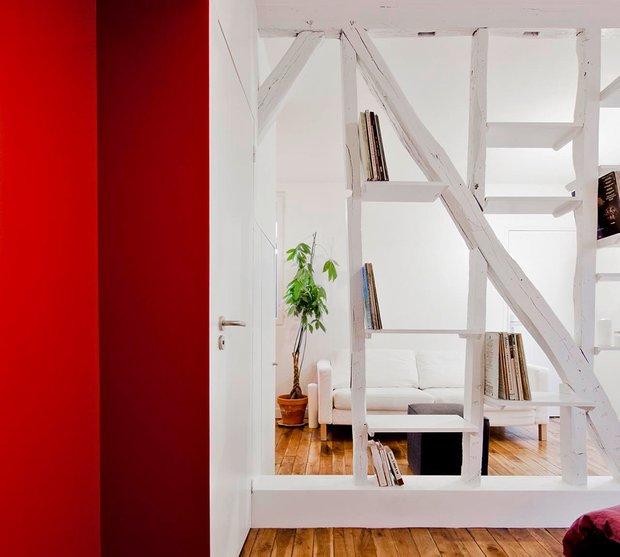 Фотография: Гостиная в стиле Современный, Малогабаритная квартира, Квартира, Дома и квартиры, Париж – фото на INMYROOM