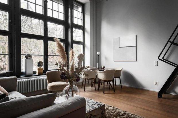 Фотография:  в стиле , Скандинавский, Современный, Декор интерьера, Квартира, Белый, Черный, Бежевый, 2 комнаты, до 40 метров – фото на INMYROOM