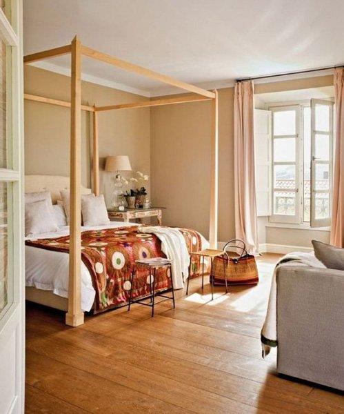 Фотография:  в стиле , Советы, как совместить спальню с гостиной, как обустроить в одной комнате две зоны, зонирование комнаты – фото на INMYROOM