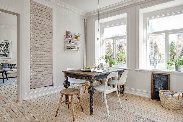 Фотография: Кухня и столовая в стиле Скандинавский, Лофт, Эклектика, Декор интерьера, Швеция, Декор дома, Советы, Шебби-шик – фото на INMYROOM