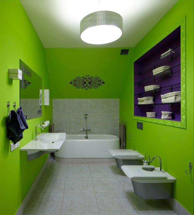 Фотография: Ванная в стиле Современный, Эклектика, Дом, Дома и квартиры, Проект недели – фото на INMYROOM