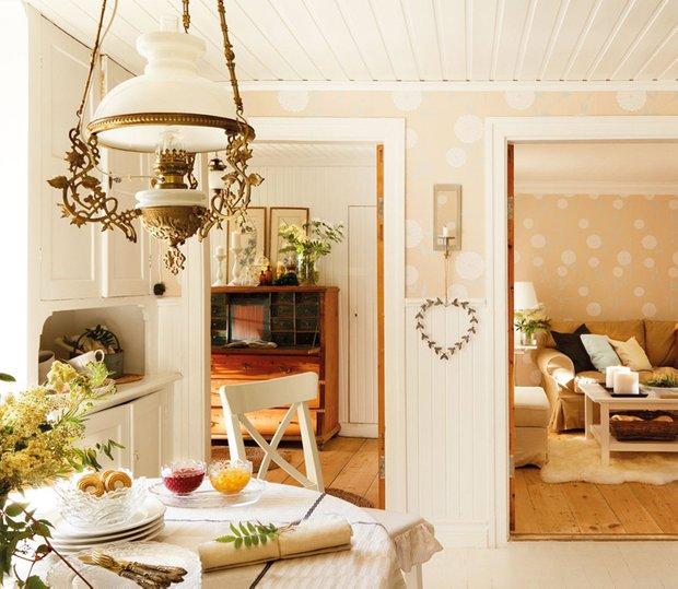 Фотография: Кухня и столовая в стиле Прованс и Кантри, Дом, Дома и квартиры, IKEA, Проект недели, Дача – фото на INMYROOM