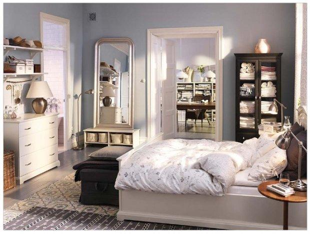 Фотография: Спальня в стиле , Классический, Декор интерьера, Интерьер комнат, Цвет в интерьере, Белый, Черный, Серый – фото на InMyRoom.ru