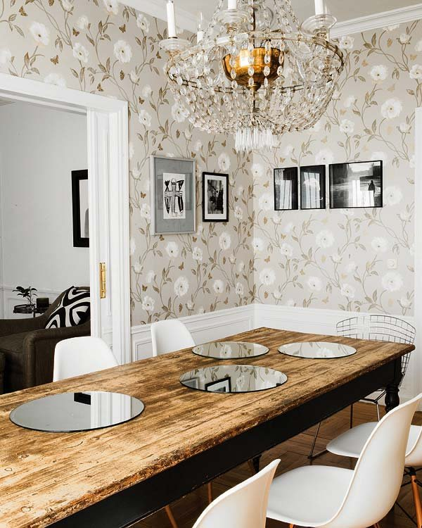 Фотография: Кухня и столовая в стиле Классический, Современный, Текстиль, Стиль жизни, Советы, Цветы – фото на INMYROOM