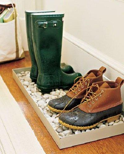 Фотография: Гостиная в стиле Эко, Прихожая, Советы, хранение обуви, идеи хранения обуви – фото на INMYROOM