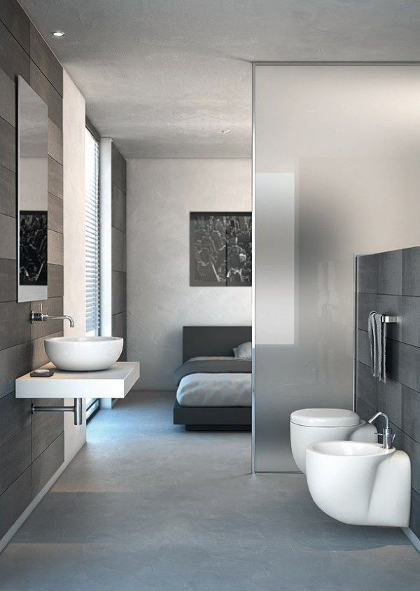 Фотография: Ванная в стиле Современный, Декор интерьера, Мебель и свет, Перегородки – фото на INMYROOM