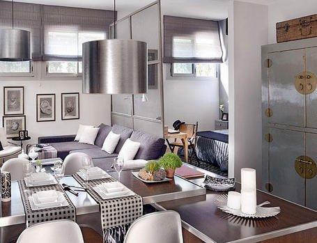 Фотография: Кухня и столовая в стиле Эклектика, Декор интерьера, Малогабаритная квартира, Квартира, Дома и квартиры, Пол, Индустриальный – фото на INMYROOM
