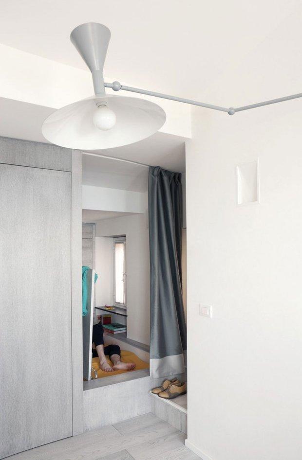 Фотография: Прихожая в стиле Скандинавский, Современный, Квартира, Цвет в интерьере, Дома и квартиры, Белый, Минимализм – фото на INMYROOM