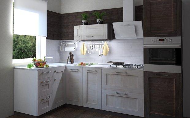 Угловая кухня «Фрейм», Leroy Merlin