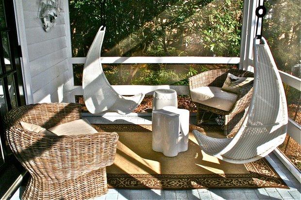 Фотография: Балкон, Терраса в стиле Прованс и Кантри, Современный, Декор интерьера, Декор, Мебель и свет, Балдахин – фото на INMYROOM