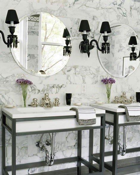 Фотография: Ванная в стиле Классический, Эклектика, Интерьер комнат, Декоративная штукатурка – фото на INMYROOM