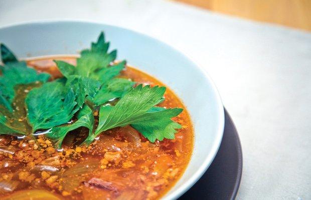 Фотография:  в стиле , Обед, Первое блюдо, Суп, Рыба, Кулинарные рецепты, Варить, 45 минут – фото на INMYROOM