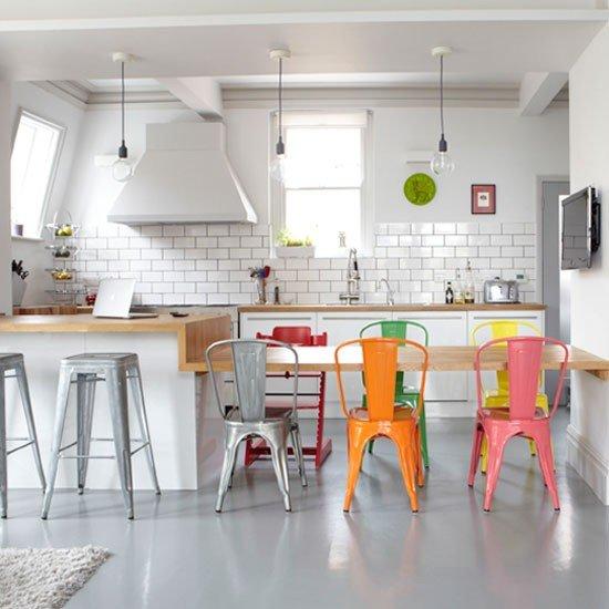 Фотография: Кухня и столовая в стиле Скандинавский, Интерьер комнат, Барная стойка – фото на INMYROOM