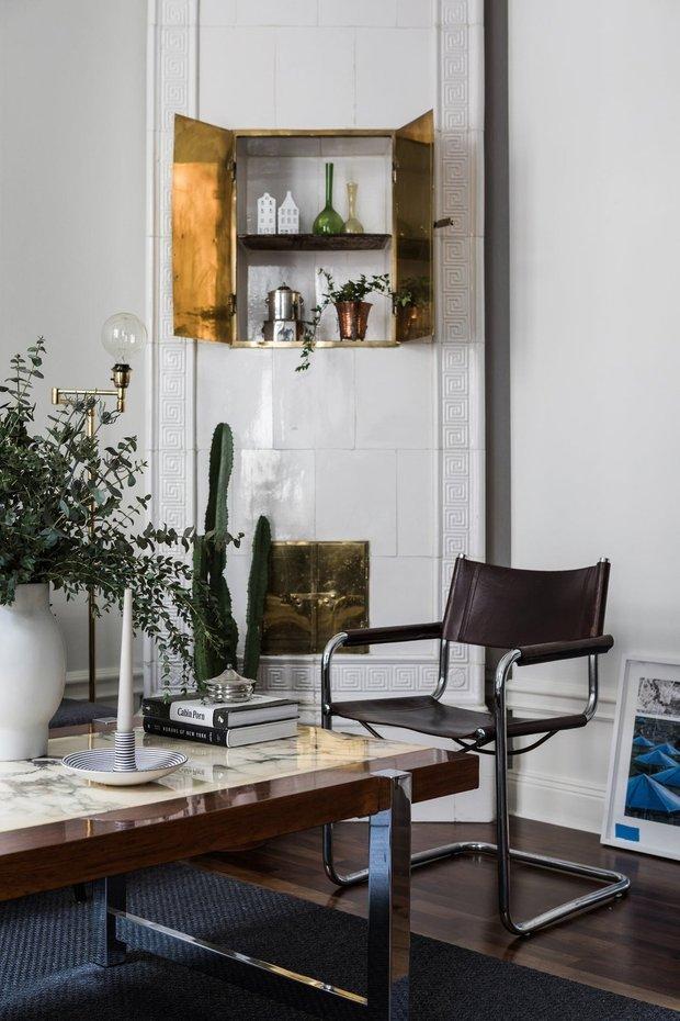 Фотография: Гостиная в стиле Скандинавский, Эклектика, Декор интерьера, Малогабаритная квартира, Квартира, Швеция, Стокгольм, как оформить малогабаритку, как самостоятельно оформить интерьер, 2 комнаты, до 40 метров – фото на INMYROOM