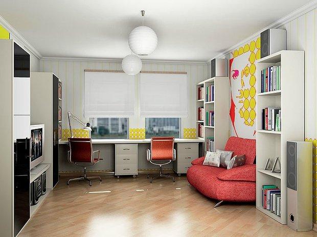 Фотография: Офис в стиле Современный, Декор интерьера, Малогабаритная квартира, Квартира, Декор дома, Диван, Комод, Подоконник – фото на INMYROOM