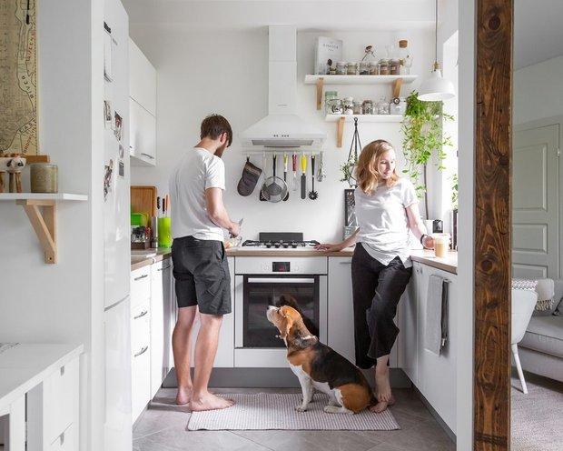 Фотография:  в стиле , Кухня и столовая, Квартира, Советы, Хрущевка – фото на INMYROOM