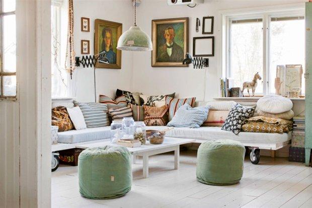 Фотография: Гостиная в стиле Скандинавский, Дом, Швеция, Дома и квартиры – фото на INMYROOM