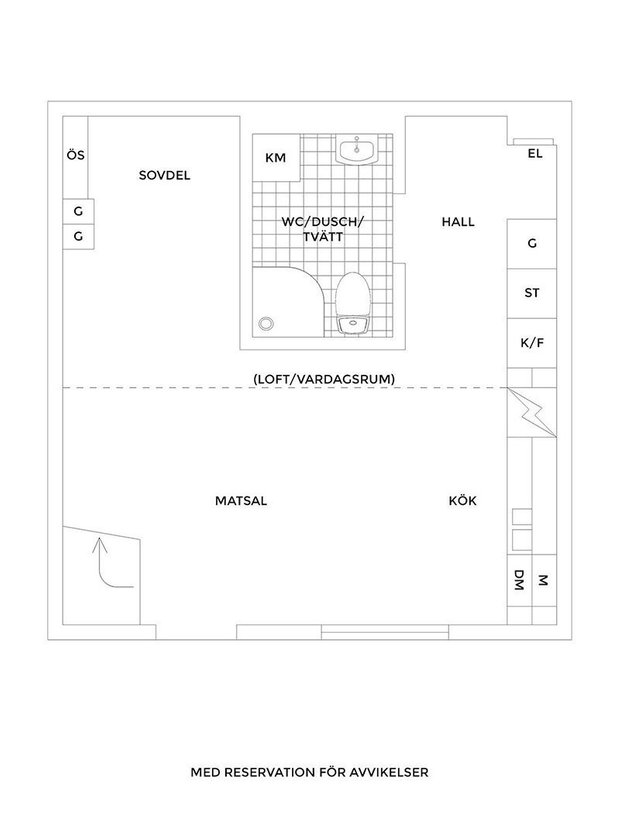 Фотография:  в стиле , Скандинавский, Декор интерьера, Квартира, Швеция, Планировки, Белый, Минимализм, Черный, Гетеборг, 2 комнаты, 40-60 метров – фото на INMYROOM