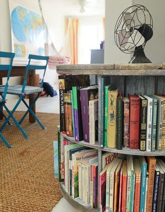 Фотография:  в стиле Лофт, Хранение, Стиль жизни, Советы, Библиотека – фото на INMYROOM