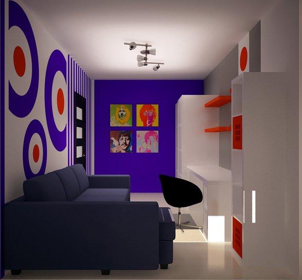 Фотография: Офис в стиле Современный, Дизайн интерьера, Цвет в интерьере, Советы, Поп-арт – фото на INMYROOM
