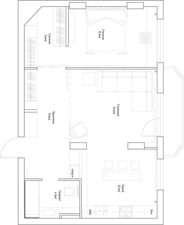 Фотография:  в стиле , Современный, Квартира, Мебель и свет, Белый, Минимализм, Серый – фото на INMYROOM