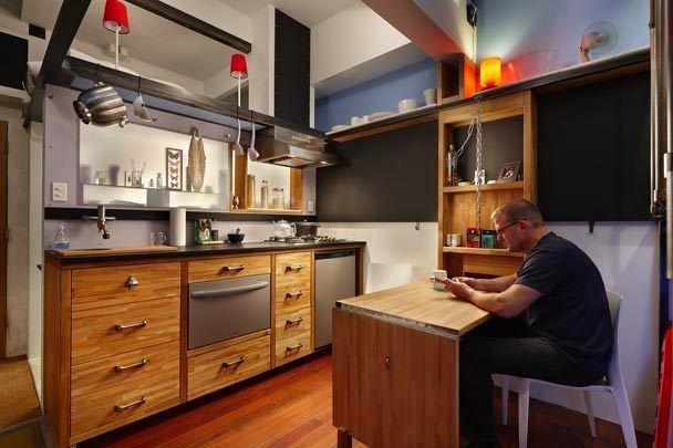 Фотография: Гостиная в стиле Прованс и Кантри, Малогабаритная квартира, Квартира, Мебель и свет, Эко – фото на INMYROOM