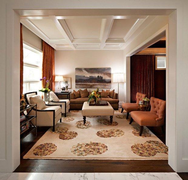 Фотография: Гостиная в стиле , Квартира, Дом, Ремонт на практике – фото на INMYROOM