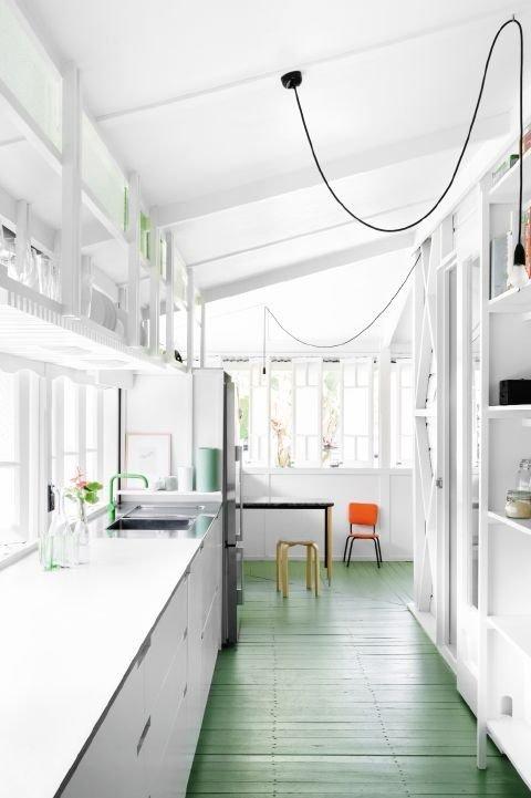 Фотография: Кухня и столовая в стиле Лофт, Скандинавский, Декор интерьера, Декор дома, Пол – фото на INMYROOM