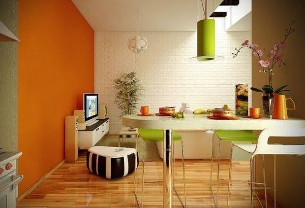 Фотография: Прихожая в стиле Лофт, Кухня и столовая, Декор интерьера, Квартира, Дом, Декор, Оранжевый – фото на InMyRoom.ru